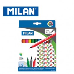 Milan Fibrepens - Box of 12 triangular fine tip water-based fibrepens