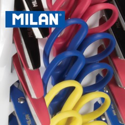Milan Scissors - Basic Scissor 14.7cm with plastic cover - Ideal for School use