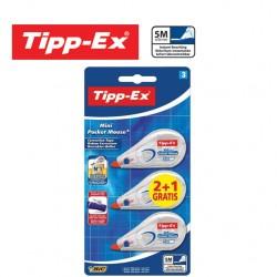 Tipp-Ex Mini Pocket Mouse Correction Tape 5mm x 5m - 2+1 FREE